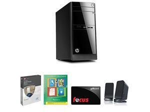 HP 110-b20 Intel Core i3, 4GB, 500GB HD Win 8.1 Desktop PC Productivity Bundle