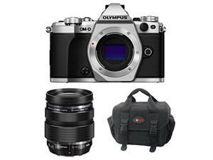 Olympus OM-D E-M5 Mark II Camera Body (Silver) with M Zuiko Digital ED 12-40mm f/2.8 Pro Interchangeable Lens and Gadget