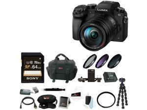 Panasonic LUMIX G7 Camera with 14-140mm Lens(Black) + 64GB SDXC + Accessory Bag