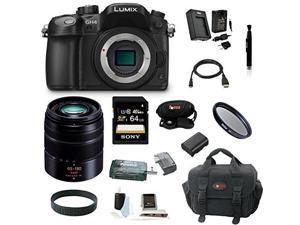 Panasonic LUMIX DMC-GH4KBODY 16.05MP Digital Single Lens Mirrorless Camera with Panasonic H-FS45150K Lumix G Series Lens (Black) plus 64GB Deluxe Accessory Bundle