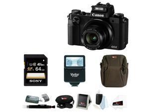 Canon PowerShot G5 X Digital Camera (Black) with 64GB SDXC Accessory Bundle