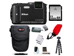 NIKON AW130: Nikon COOLPIX AW130 Camera (Black) with 32GB Deluxe Accessory Kit