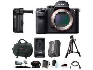 "Sony A7S II: Sony Alpha a7SII Mirrorless Digital Camera with Vertical Grip and 39"" Tripod Accessory Bundle (Body Only)"