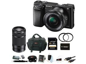 Sony a6000: Sony Alpha a6000 (Black) with 16-50mm and 55-210mm Lenses plus 32GB Kit