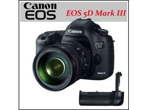 Canon EOS 5D Mark III 22.3 MP CMOS Digital SLR Camera + Canon Battery Grip BG-E11