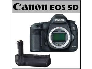 Canon EOS 5D Mark III 22.3MP Full Frame CMOS w/ 1080p Full-HD Video Mode Digital SLR Camera (Body) + Canon Battery Grip for EOS 5D Mark III Digital Camera