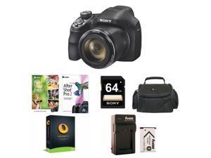 Sony Cyber-shot DSC-H400 20.1MP Digital Camera (Black), Corel Digital Organization & Creativity Suite with Corel AfterSh