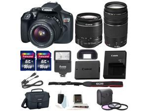 Canon Rebel T6 DSLR Camera w/18-55mm & 75-300mm Lenses + Promotional Holiday kit