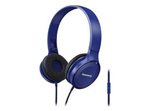 Panasonic Best in Class Over-the-Ear Stereo Headphones RP-HF100M-K (Blue) w/ Mic