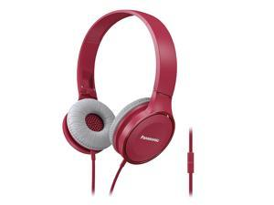 Panasonic Best in Class Over-the-Ear Stereo Headphones RP-HF100M-P (Pink) w/ Mic