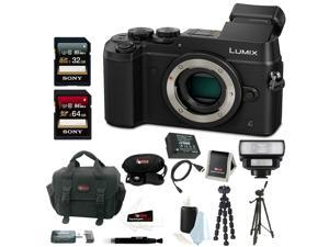 Panasonic Lumix DMC-GX8 Mirrorless Micro Four Thirds Digital Camera (Body Only, Black) w/ Accessory Bundle