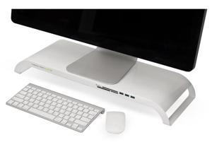 Monitor Mate Ultra3.0 Multifunctional Monitor Platform with USB3.0 Hub & Cardreader - White