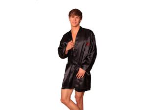 Lovely Day Lingerie Men's Prosperity Short Pant Robe Set