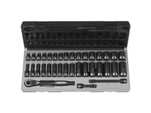 "35 Piece 3/8"" Drive Standard and Deep Metric 6 Point Duo-Socket Set"