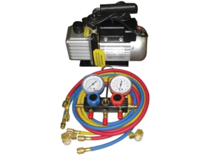 Vacuum Pump and Manifold Gauge Set