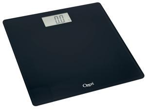 Ozeri Precision Digital Bath Scale (400 lbs Edition) with Widescreen LCD and Step-on Activation, in Black