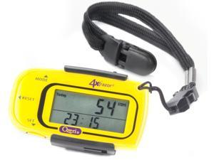 Ozeri 4x3razor Digital Pocket 3D Pedometer with Bosch Tri-Axis Technology from Germany, in Sport Yellow