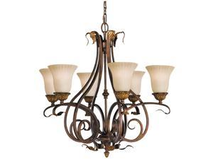 Feiss Sonoma Valley 6-Light Chandelier, Aged Tortoise Shell - F2076-6ATS