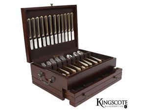 Kingscote Silversmiths Princeton Flatware Chest Mahogany - 210 Cap (MSRP:$150)