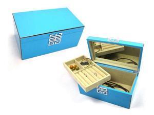 Agoura Azul High-Gloss Jewelry Box - Blue (MSRP:$100)