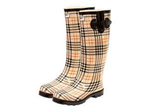 Ladies' Tall, Flat Rain Boots (Rubber Wellies)