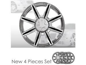 """15"""" 8 Spikes Chrome Finished Hubcap Covers Brand New Set of 4 Pieces 15 Inch Rim Cover 541"""
