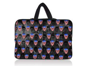 """Cool Skull 13"""" 13.3"""" inch Notebook Laptop Case Sleeve Carrying bag with Hide Handle for Apple Macbook pro 13 Air 13/Samsung 530 535U3/Dell XPS inspiron 13/ ASUS/SONY SD4/ThinkPad X1 E330"""
