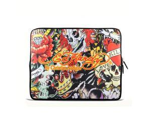 """Colorful Skull 9.7"""" 10"""" 10.2"""" inch Laptop Netbook Tablet Case Sleeve Carrying bag For iPad/Asus EeePC/Acer Aspire one/Dell inspiron mini/Samsung N145/Lenovo S205/HP Touchpad Mini 210"""
