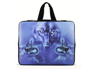 """Blue Wolf 15"""" 15.4"""" 15.6"""" inch Notebook Laptop Case Sleeve Carrying bag with Hide Handle for Apple MacBook Pro 15/Dell Inspiron 15R Alienware M15X/ASUS A55 K55 /Sony E15/ThinkPad E530"""