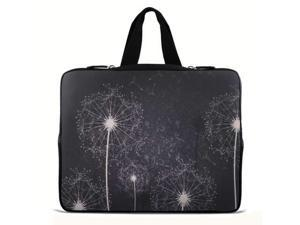 """Dandelion wishes 17.1"""" 17.3"""" inch Laptop Bag Sleeve Case with Hidden Handle for Apple MacBook pro 17/Dell Inspiron 17R Alienware M17x/Samsung 700 Sony Vaio E 17/HP dv7 ENVY 17/Asus G74 K73 N75 A93"""