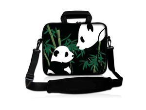 """Cute Panda 9.7"""" 10"""" 10.2"""" inch Laptop Netbook Tablet Shoulder Case Carrying Sleeve bag For Apple iPad/Asus EeePC/Acer Aspire one/Dell inspiron mini/Samsung N145/Lenovo S205/HP Touchpad Mini"""