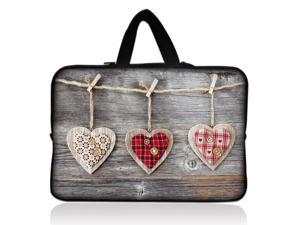 "Three Heart 9.7"" 10"" 10.2"" inch Laptop Netbook Tablet Case Sleeve Carrying bag with Hide Handle For iPad/Asus EeePC/Acer Aspire one/Dell inspiron/Samsung N145/Lenovo S205/HP Touchpad Mini"