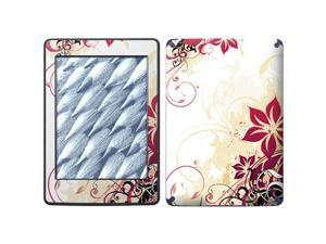 For Amazon Kindle Paperwhite Skin Red Flower Full Body Decals Protector Stickers Covers - AKP1325-26