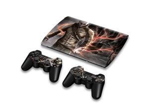 For Sony PlayStation 3 Super Slim CECH-4000 Skins Stickers Personalized Decals + 2 Controller Covers - PS3S4000-51
