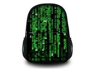 "Canvas Satchel Backpack Laptop Collegiate Lady Laptop Backpack Rucksack Book bag up to 15.6"" 15"" - Digital Rain SB-20350"