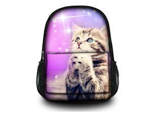 "Canvas Satchel Backpack Laptop Collegiate Lady Laptop Backpack Rucksack Book bag up to 15.6"" 15"" - Wishing cat SB-25426"