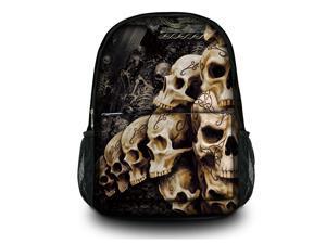 "Canvas Satchel Backpack Laptop Collegiate Lady Laptop Backpack Rucksack Book bag up to 15.6"" 15"" - Skull Heap SB-5518"