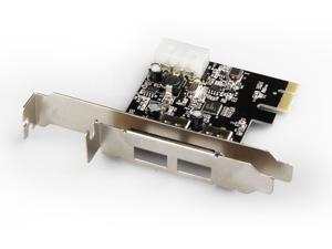 UNITEK Y-7301 2-Port USB 3.0 PCI Express Controller Adapter Card (NEC Chipset)