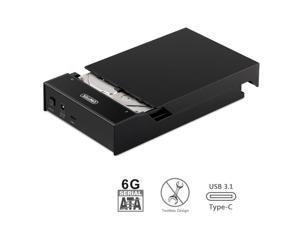 "UNITEK USB 3.1 Type C to SATA Gen 2 (10Gbps) External Lay-Flat Hard Drive Docking Station for 2.5""/3.5"" Inch SATA SSD HDD, Supports UASP and 6TB + for Mac Windows Type A PCs"