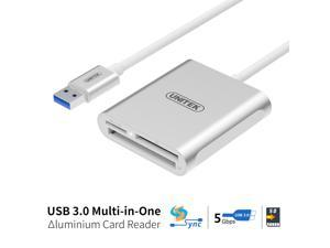 [Upgrade Version] UNITEK Aluminum USB 3.0 Multi-in-1 Memory Card Reader for CF/SD/TF Micro SD/SD/MD/MMC/SDHC/SDXC for MacBook Pro Air, iMac, Mac Mini, Microsoft Surface Pro, Andorid