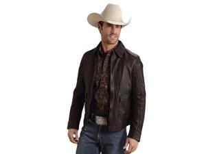 Stetson Western Jacket Mens Soft Leather 2XL Mocha 11-097-0539-0695 BR