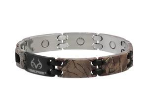 Sabona Jewelry Mens Bracelet Realtree Stainless Magnetic M Brown 444