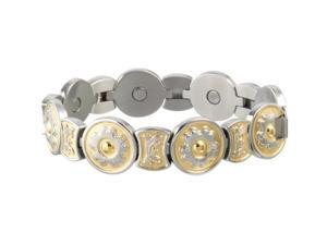 Sabona Jewelry Womens Bracelet Round Flower Scroll L Gold Silver 204