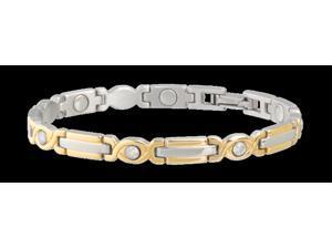 Sabona Jewelry Womens Bracelet Lady Executive Gem Magnetic S Gold 305