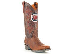 Gameday Boots Mens Western Cowboy South Carolina 12 D Brass USC-M149-1