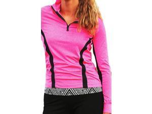 Cruel Girl Western Shirt Womens Athletic Long Sleeve L Pink CWK9860001