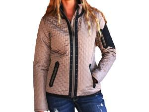 Cruel Girl Western Jacket Womens Quilted Suede XL Brown CWJ9857001