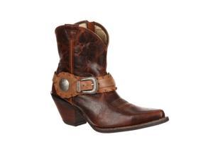 Durango Western Boots Womens Crush Spur Strap 8.5 M Brown DCRD173