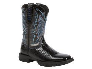 Durango Western Boot Women Rebel Snake Oil Rocker Heel 9 M Black RD029