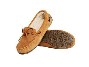 Old Friend Slippers Womens MO Moccasin Leather Sheepskin 12 Tan 340158